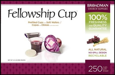Fellowship Cup Prefilled Communion Cups, Box of 250  -