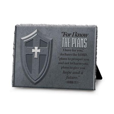 For I Know the Plans, He is Your Shield Plaque  -