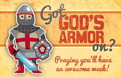 God's Armor (Ephesians 6:13, NIV) Postcards, 25  -
