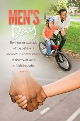 Men's Day (1 Timothy 4:12) Bulletins, 100  -