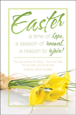 Easter Time of Hope (Matthew 28:5-6, NIV) Bulletins, 100  -