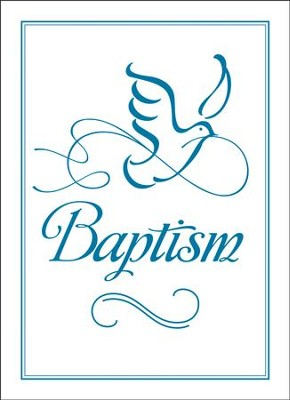 Embossed Baptism Certificates (Mark 16:16, NIV) 6  -