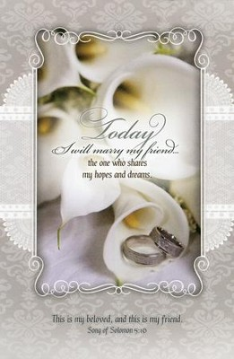 Today I marry (Song of Solomon 5:16) Bulletins, 100  -
