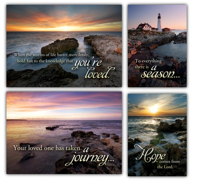 Light in the Darkness, Box of 12 Assorted Sympathy Cards  -