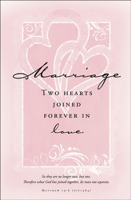 Two Hearts Joined Forever - Marriage Bulletins/100 (Matthew 19:6, NIV)  -