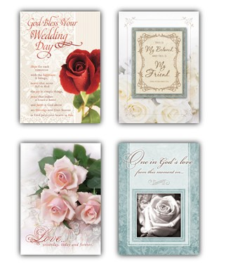 Blessed Love, Box of 12 Assorted Wedding Cards  -