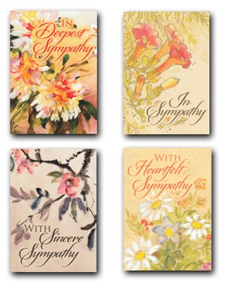 Petals of Comfort, Box of 12 Assorted Sympathy Cards  -