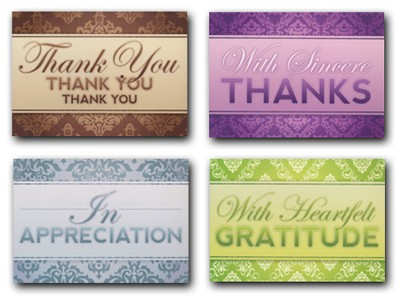 A Word of Thanks, Box of 12 Assorted Thank You Cards  -
