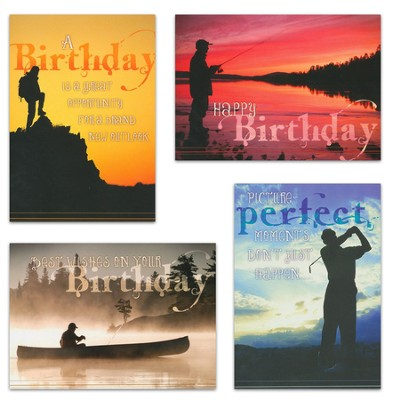 Grand Adventures, Box of 12 Assorted Birthday Cards  -