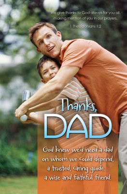 Thanks Dad (1 Thessalonians 1:2) Bulletins, 100  -