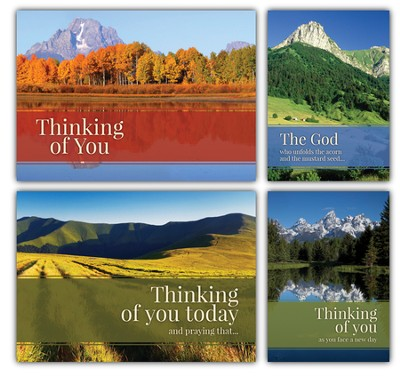 Nature's Majesty, Box of 12 Assorted Thinking of You Cards  -