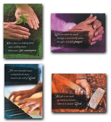 Helping Hands, Box of 12 Assorted Ministry Appreciation Cards  -