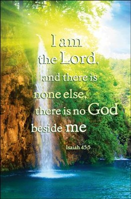 I am the Lord (Isaiah 45:5, KJV), Bulletins, 100  -
