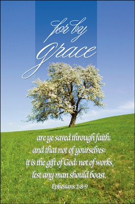 For by Grace Bulletins/100 (Ephesians 2:8, KJV)  -
