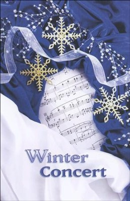 Winter Concert, Snowflakes, Program Covers/Bulletins, 100  -