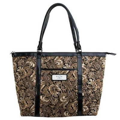 Faith, Paisley Tote Bag, Brown  -