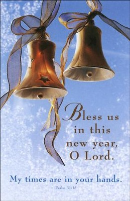 Bless Us New Year, (Psalm 31:15), Bulletins, 100  -
