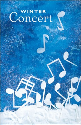 Winter Concert, Musical Notes in Snow, Bulletins, 100  -