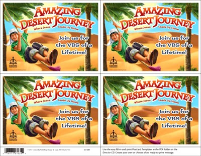 Amazing Desert Journey Publicity Postcard (Pack of 24)  -