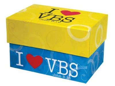 I Heart Vbs Index Card Box  -