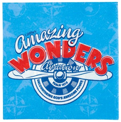 Amazing Wonders Aviation Napkins, Package of 50  -