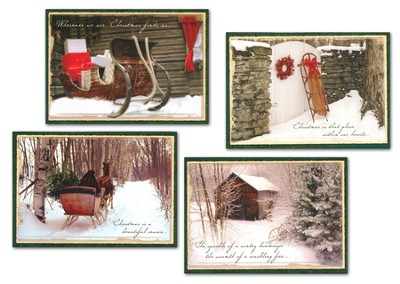 An Old Fashioned Christmas, Box of 12 Assorted Christmas Cards  -