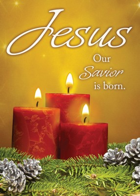 Jesus Our Savior Is Born (2 Corinthians 9:15) Box of 12 Christmas Cards  -