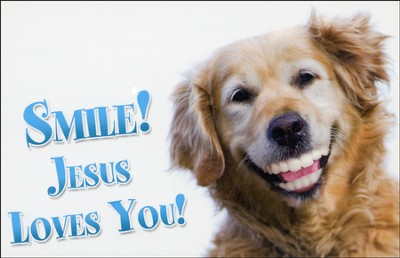Smile Jesus Loves You (1 John 4:9, NIV) Postcards, 25  -