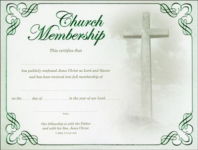 Fellowship - Church Membership Certificates (1 John 1:3,  NIV)/6  -
