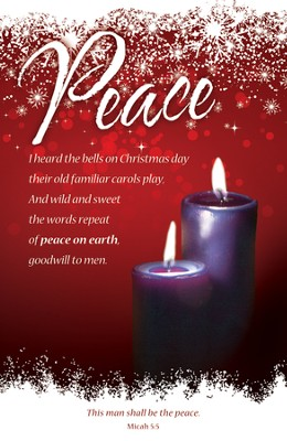 Peace (Micah 5:5) Advent Bulletins, 100  -