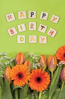 Happy Birthday (Numbers 6:24) Postcards, 25  -