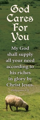 God Cares For You (Phillippians 4:19) Bookmarks, 25  -
