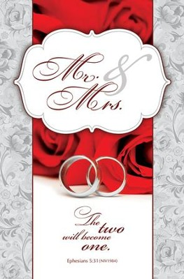Mr. and Mrs. (Ephesians 5:31, NIV) Bulletins, 100  -