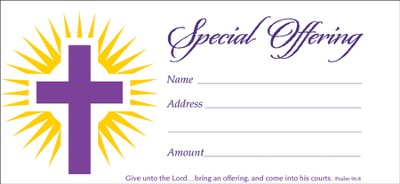 Special Offering (Psalm 96:8), Offering Envelopes, 100  -