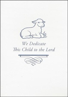 Embossed Baby Dedication Booklet (KJV & NIV)  -