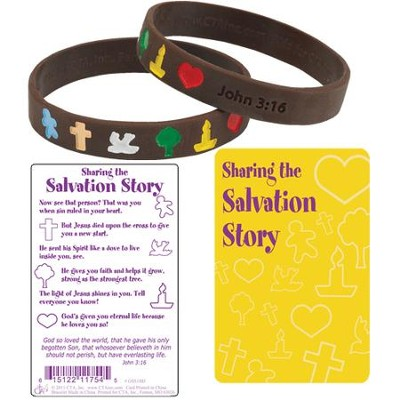 Salvation Story Silicone Bracelet with Card  -