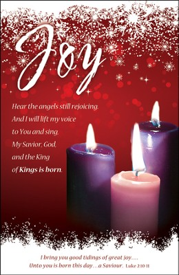 Joy (Luke 2:10-11) Advent Bulletins, 100  -