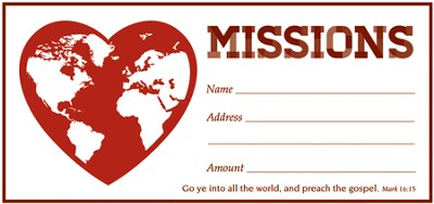 Missions (Mark 16:15) Offering Envelopes, 100  -