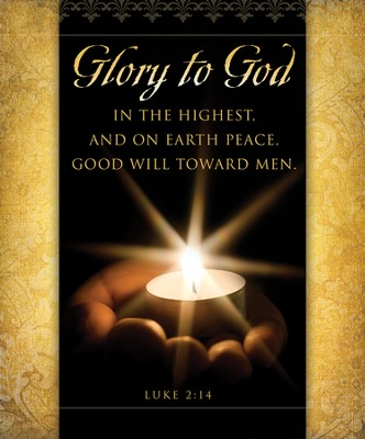 Glory to God (Luke 2:14) Large Bulletins, 100  -
