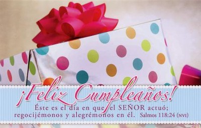 ¡Feliz Cumpleaños! - Salmos 118:24, 25 Tarj. Postales  (Happy Birthday! - Psalm 118:24, 25 Postcards)  -