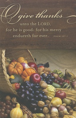 Give Thanks Unto the Lord (Psalm 107:1) Bulletins, 100  -