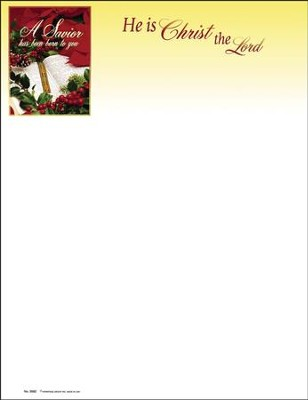 A Savior Has Been Born To You, Christmas Letterhead, 100  -