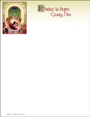 Icon Nativity Christmas Letterhead, 100  -