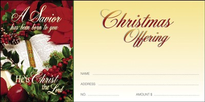A Savior Has Been Born To You, Christmas Offering Envelopes, 100  -