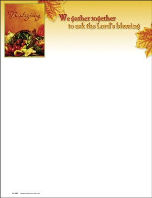 We Gather Together To Ask The Lords Blessing, Letterhead, 100  -