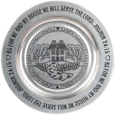 As For Me And My House, Pewter Tray  -