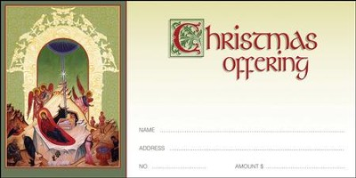 Icon Nativity Christmas Offering Envelopes, 100  -