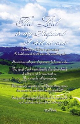The Lord Is My Shepherd (23rd Psalm) Bulletins, 100  -