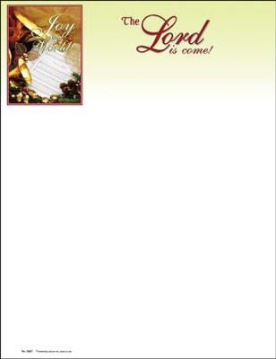 Joy to the World the Lord is Come, Christmas Letterhead, 100  -