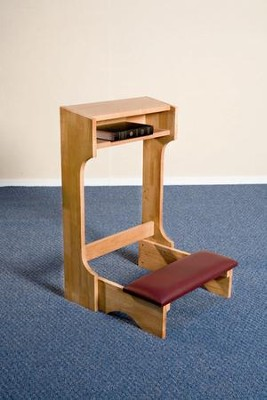 Padded Kneeler, Hardwood Maple with Pecan Finish  -